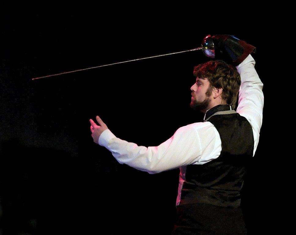 Laertes with sword, Hamlet 2010, photo Bradley Ball