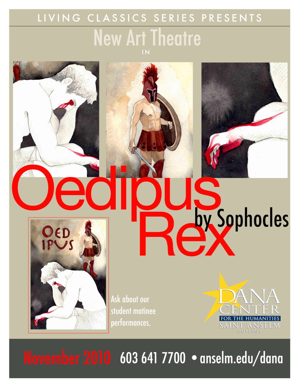 Poster for Oedipus Rex, 2010